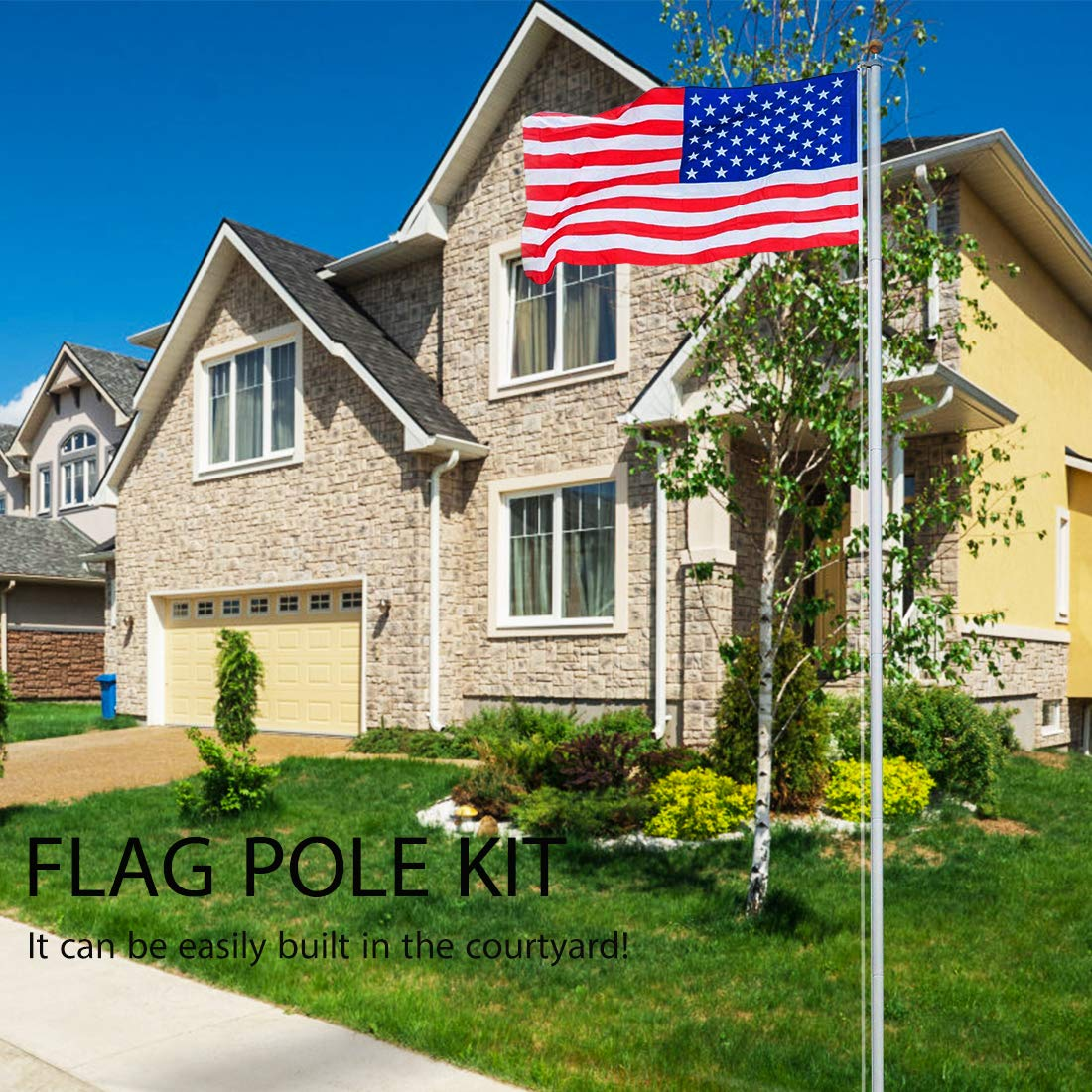 20FT Sectional Flag Pole Kit