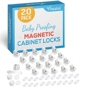 Baby proofing kit. Maisi magnetic cabinet locks. 20 locks and 2 keys
