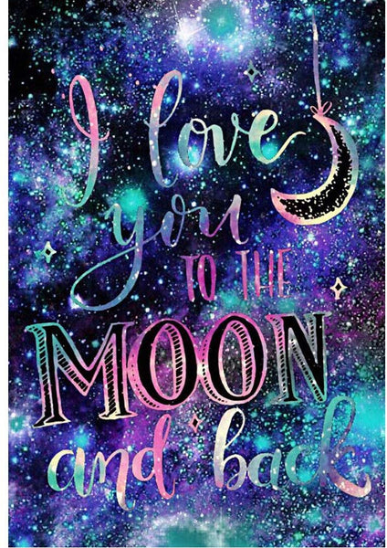 "Diamond Painting ""I Love You to the Moon and Back"" Royum"