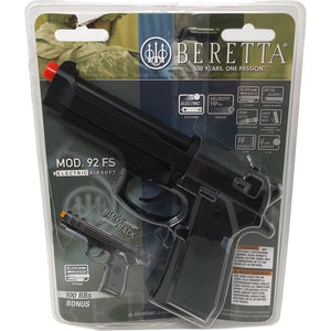 Beretta 92FS Semi-Automatic AEG Electric Airsoft Pistol 150 FPS - Black