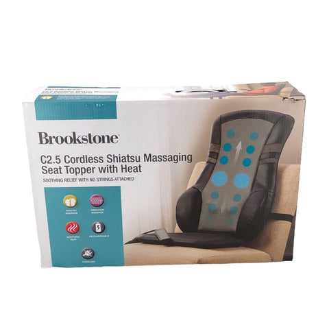 Brookstone C2.5 Cordless Shiatsu Massaging Seat Topper