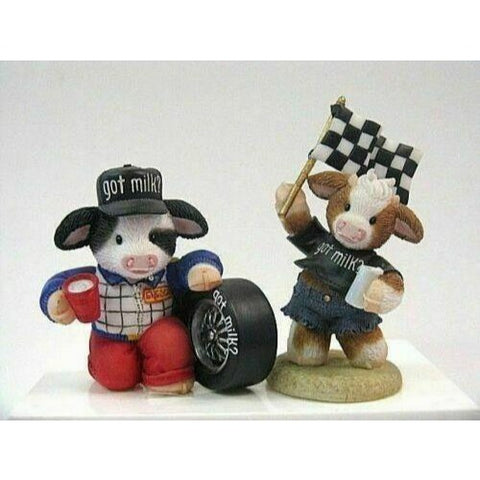 ENESCO MARY'S MOO MOOS - GOT MILK? 2 PC RACING SET
