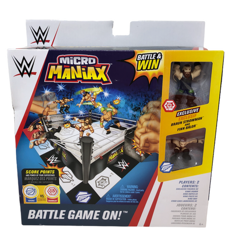 Series 1 WWE Micro Maniax Battle Game with Two Figures