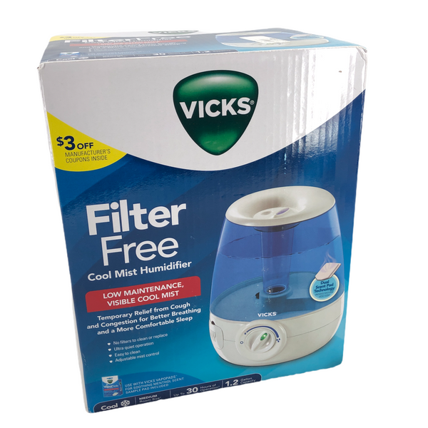 Vicks Filter - Free Ultrasonic Cool Mist Humidifier