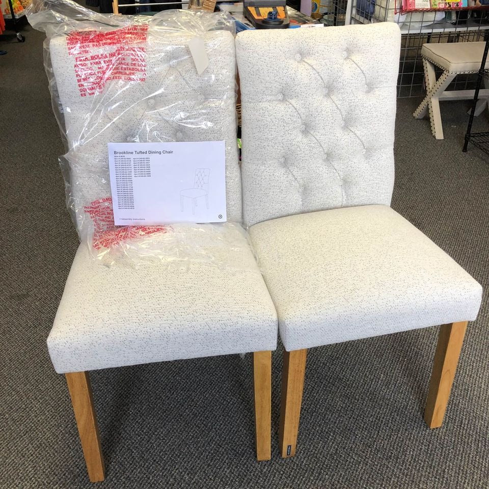 Brookline tufted dining chairs (2)