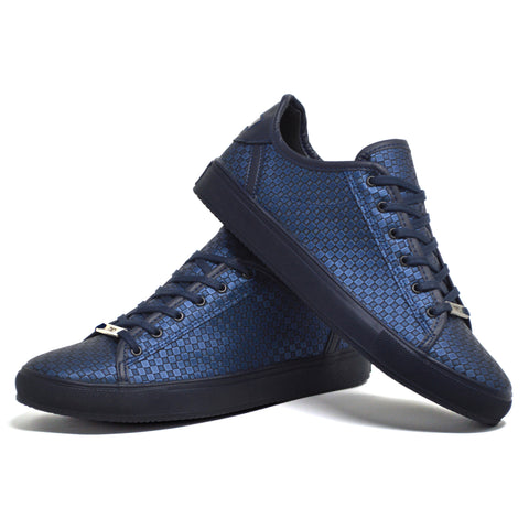 Picture of Mens New Navy Smart Casual Skate Fashion Trainers