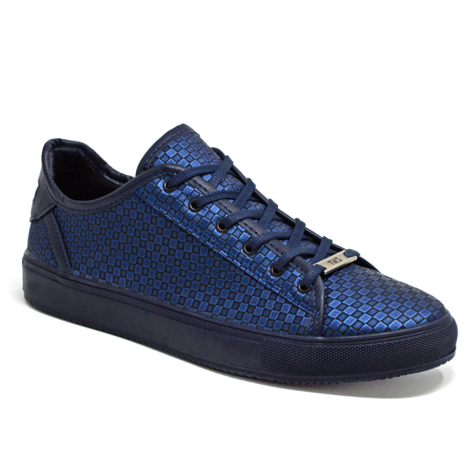 Mens New Navy Smart Casual Skate Fashion Trainers