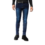 Mens Dark Blue G72 Denim Stretch Skinny Slim Fit Jeans