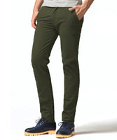 Olive Stretch Slim Fit Chinos