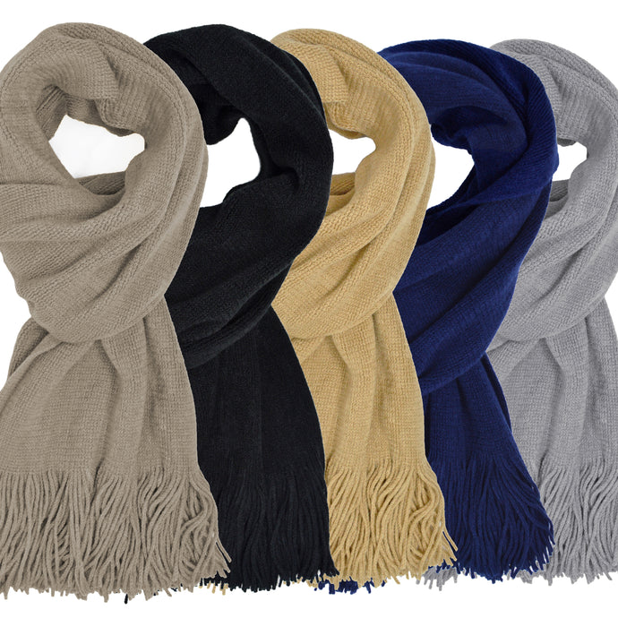 Classic Knitted Tasseled Scarves - Available in 7 Colours