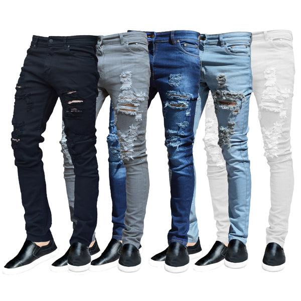 Ripped Skinny Jeans - Available in 5 Colours
