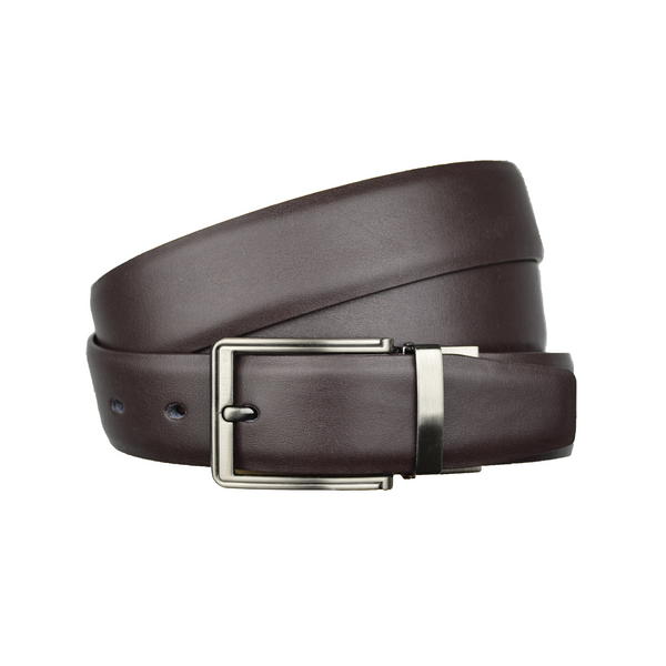 Brown Leather Reversible Belt