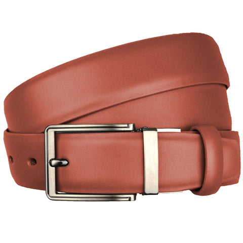 Picture of Red Genuine Real Leather Reversible One Size Adjustable Belt