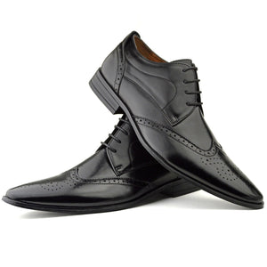Mens Black Smart Wedding Office Shoes