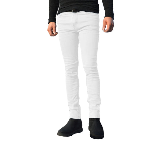 Picture of Mens White G72 Denim Stretch Skinny Slim Fit Jeans