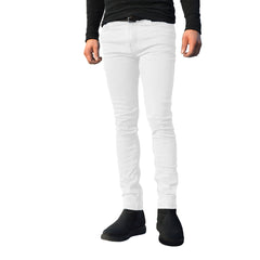 Mens White G72 Denim Stretch Skinny Slim Fit Jeans
