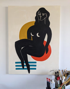 Bold Woman I, 48 x 36 in