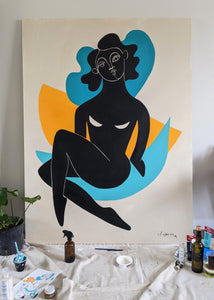 Bold Woman II, 72 x 54 in