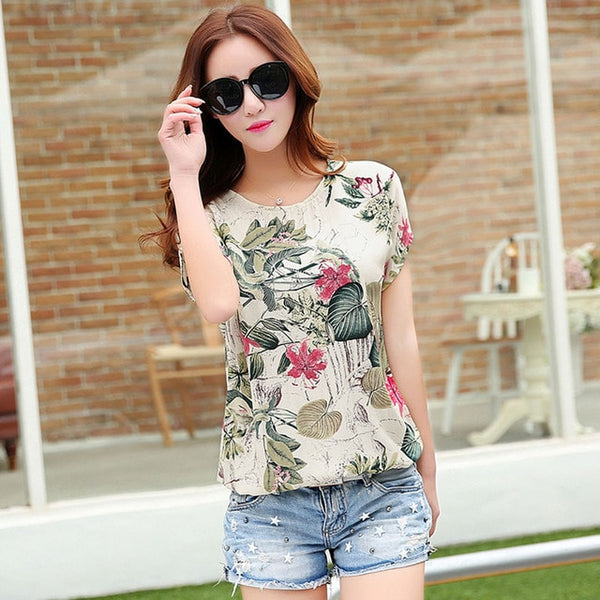 Top Casual, estampado floral