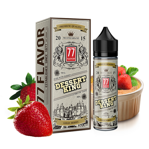 Image of Gold Series 77 Flavor Dessert King E-Liquid E-Juice - Flava Hub