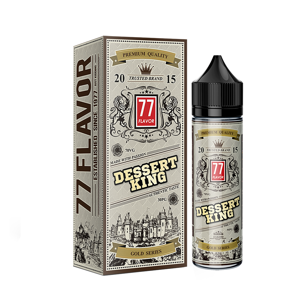 Gold Series 77 Flavor Dessert King E-Liquid E-Juice - Flava Hub