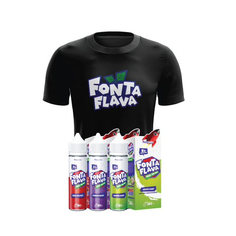 Image of Fonta Flava Fizzy Series + T-Shirt Bundle E-Juice - Flava Hub