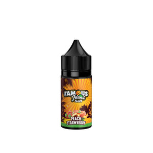 Famous Island Salt Peach Strawberry E-Juice - Flava Hub