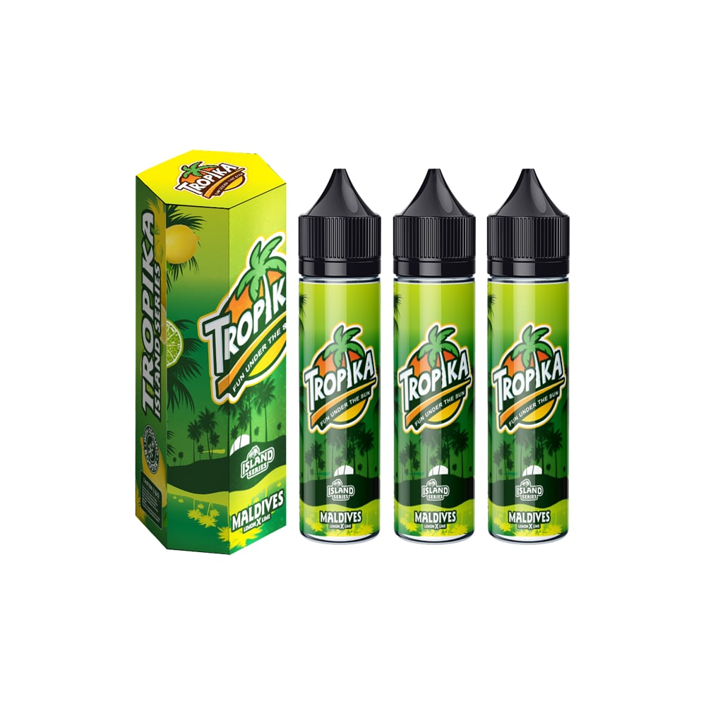 TROPIKA Island Series Maldives Lemon & Lime E-liquid Bundle (Set of 3) E-Juice - Flava Hub