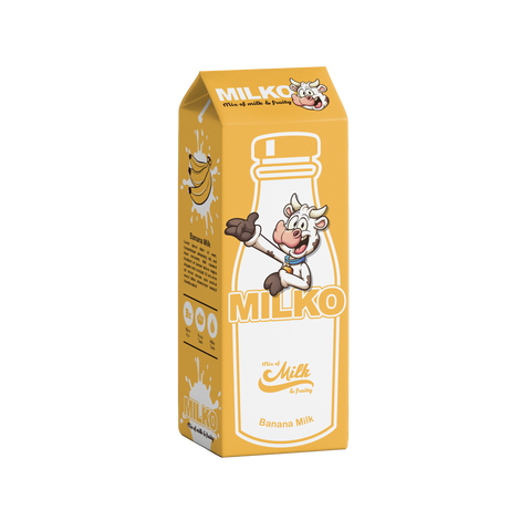 Milko Banana Milk E-liquid (50ml) E-Juice - Flava Hub