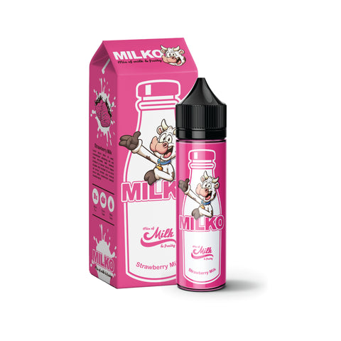 Milko Strawberry Milk E-liquid (50ml) E-Juice - Flava Hub