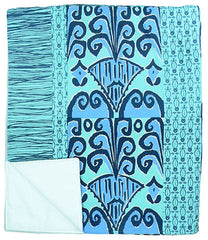 Zaire Ikat Quilted Throw