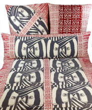 "Load image into Gallery viewer, Mirrored in Red & Gray 16""x 48"" jumbo lumbar pillow"
