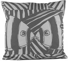 "Load image into Gallery viewer, ""Mirrored"" in Gray- 18"" x 18"" pillow"