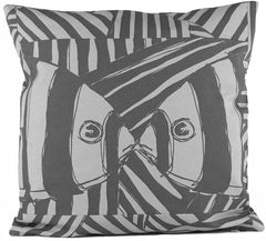 """Mirrored"" in Gray- 18"" x 18"" pillow"