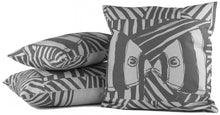 "Load image into Gallery viewer, ""Mirrored"" in Gray- 12"" x 20"" pillow"