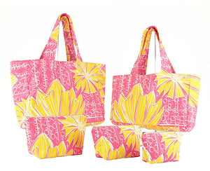 """Duchess"" in Pink Lemonade- Fat Bottom Bag- Large"
