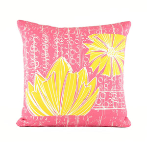 """Duchess"" in Pink Lemonade- 18"" x 18"" pillow"