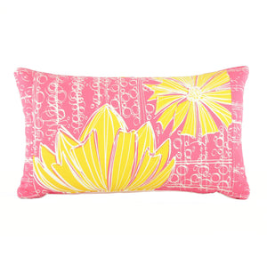 """Duchess"" in Pink Lemonade- 12"" x 20"" pillow"
