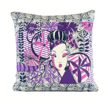 "Load image into Gallery viewer, ""Flirt"" 18"" x18"" pillow"