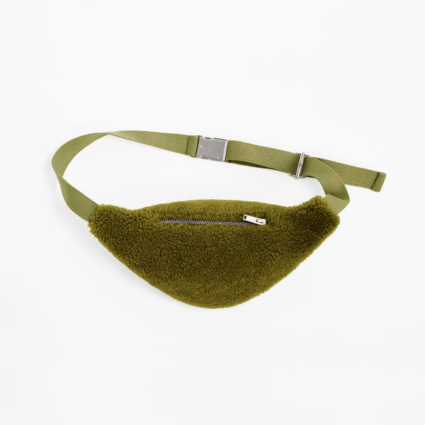 Sheepskin Dark Green Bum Bag