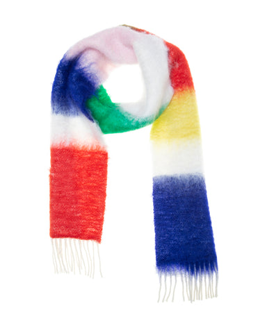 Multicolour Stripe Wool and Mohair Scarf