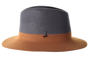 Anthracite Grey and Gold Brown Traveller Hat