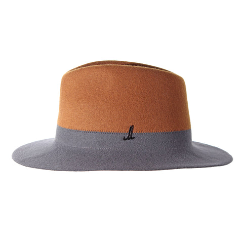 Gold Brown and Anthracite Grey Traveller Hat