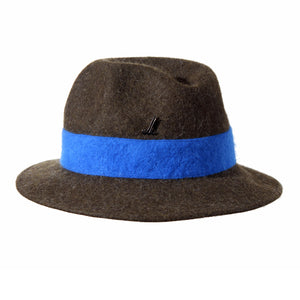 Olive Green and Royal Blue Unisex Brimmed Hat