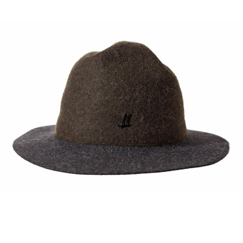 Olive Green and Anthracite Grey Unisex Mounty Hat