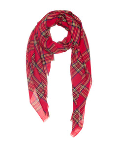 Red, Blue and Yellow Highland Check Scarf