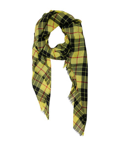 Yellow, Red and Black Highland Check Scarf