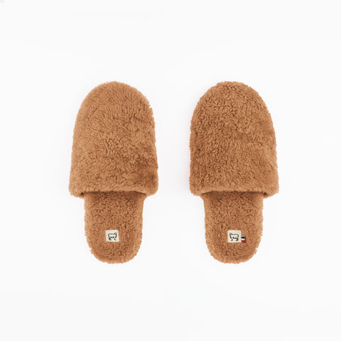 Sheepskin Camel Hotel Slippers