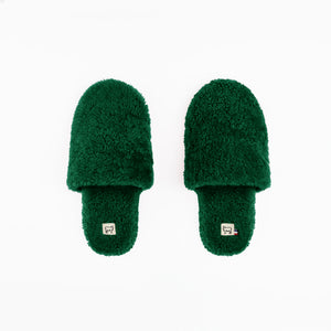 Sheepskin Emerald Green Hotel Slippers