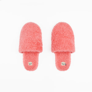 Sheepskin Bubblegum Pink Hotel Slippers